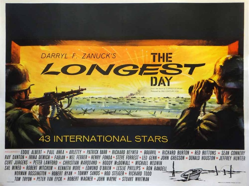 The Longest Day Poster, UK Quad, 1962, Chantrell