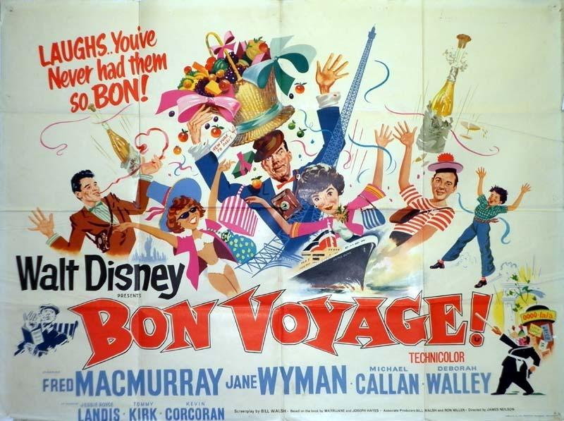 bon voyage poster  uk quad  1962  jock hinchliffe