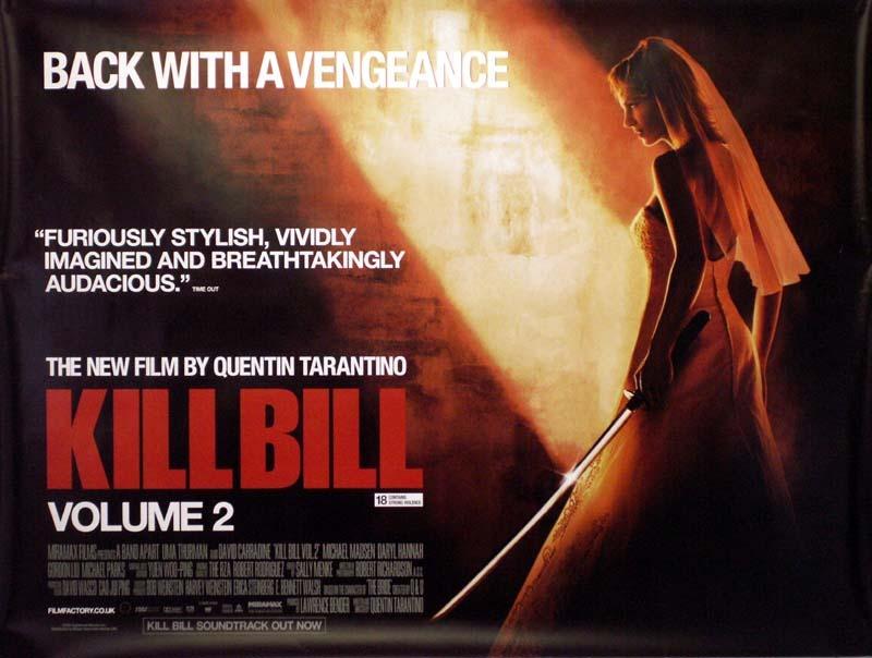 Kill Bill Vol 2 Poster Uk Quad 2004