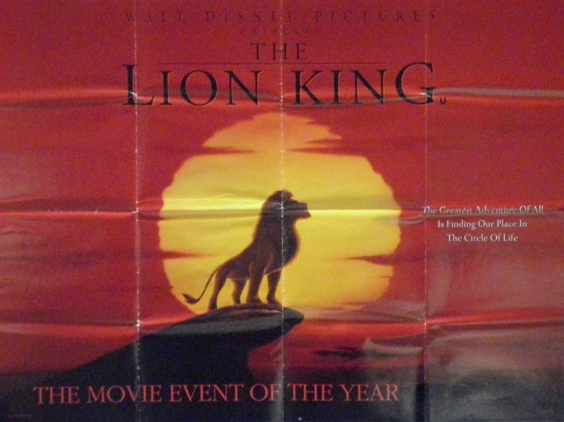 the lion king poster uk quad 1994 brian bysouth
