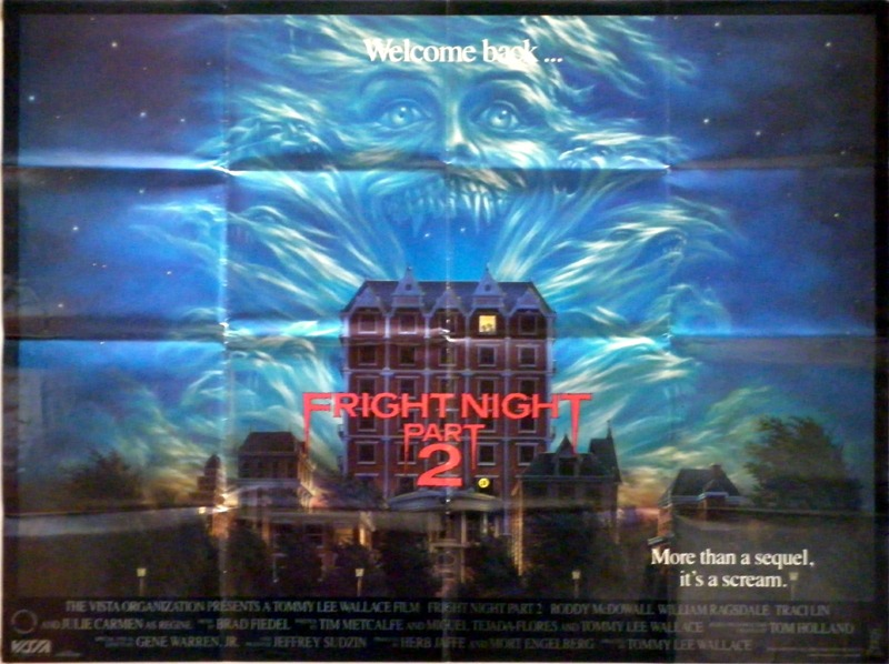 1988 Movie Posters: Frightnight Part 2 Poster, UK Quad, 1988