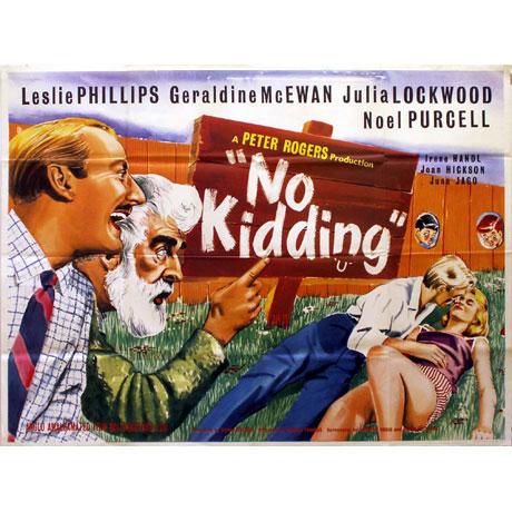 No Kidding Poster, UK Quad, 1961