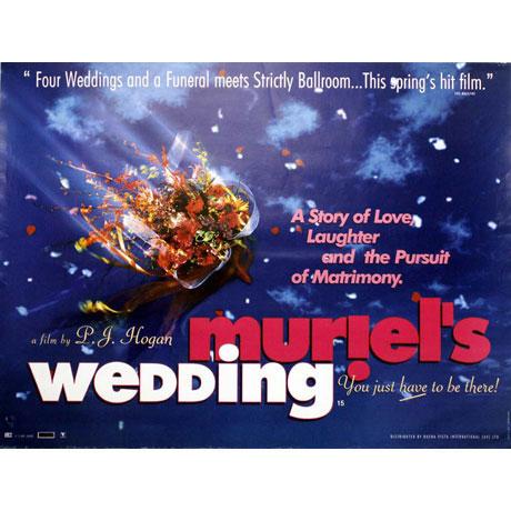 Muriel's Wedding Poster, UK Quad, 1994
