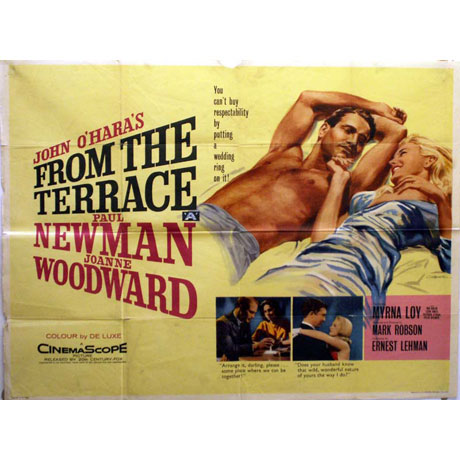 From the terrace poster uk quad 1960 chantrell for Movies at the terrace