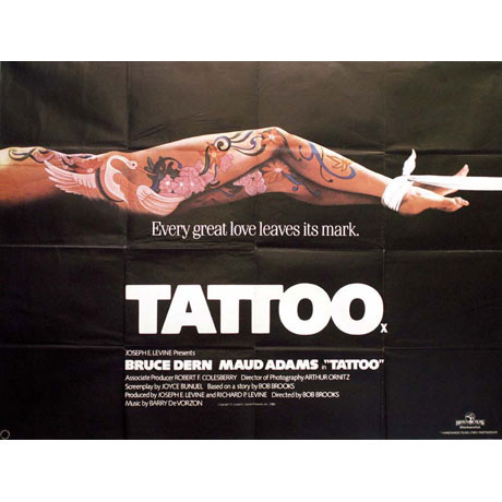 "Tattoo Poster. Interesting Poster design redolent of ""Casino Royale"","