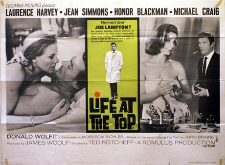Life At The Top Poster Uk Quad 1965